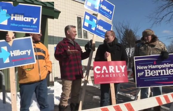 Hillary-Sanders-Carly signs in NH primary - submitted
