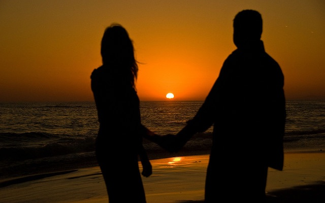 Holding Hands at Sunset - CC Gregory Jordan