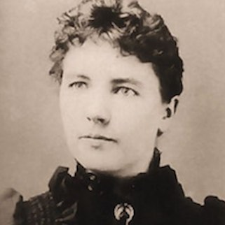 Laura Ingalls Wilder portrait 18 years old