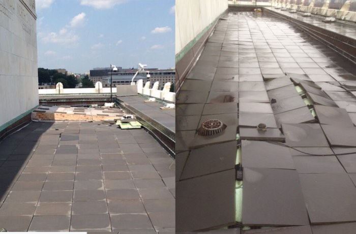 Lincoln Memorial repairs roof walkway