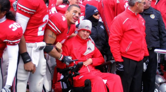 Ohio State wheelchair and Kurt Coleman