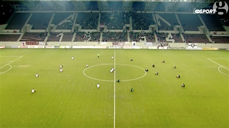 Soccer Players Sit Down Protest 1 screenshot Guardian and OTE Sports
