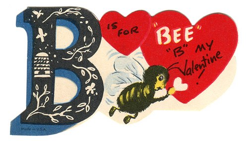 Valentine Bee is for Be Mind - CC karen horton