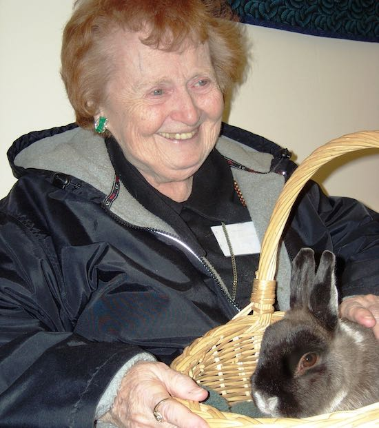 bunny with elderly - NatureConnection