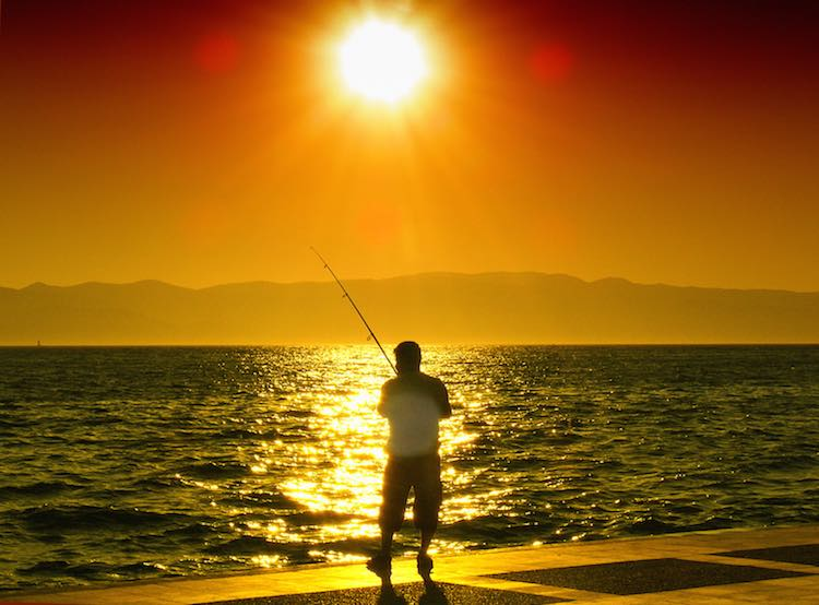 fishing at sunset-alemdag CC