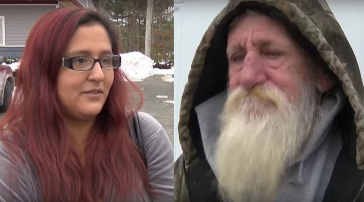 lottery winner helps homeless man screenshot WCVB