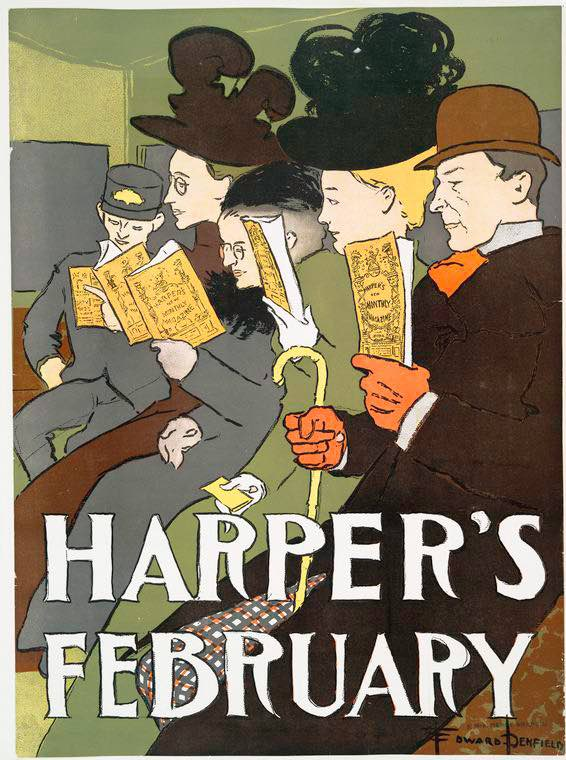 nypl-ad Harpers February 1900-Edward Penfield