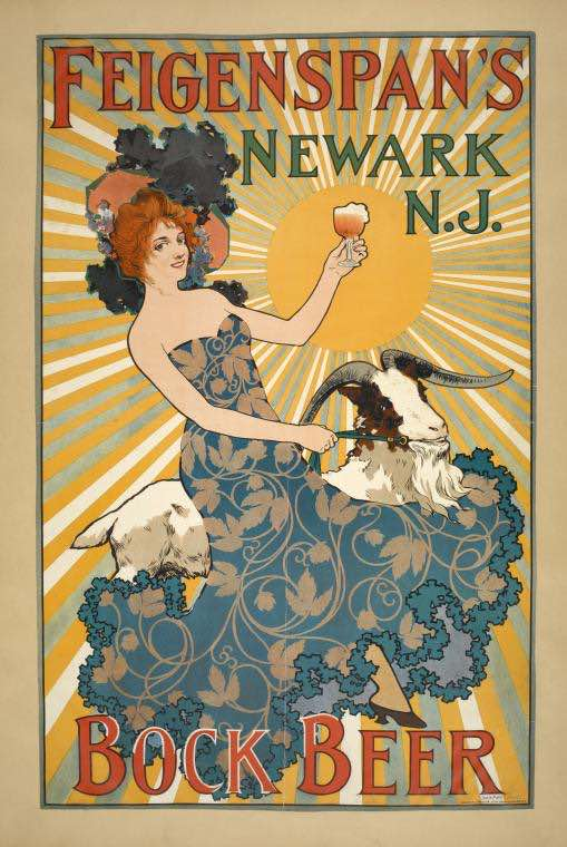 nypl ad for Bock Beer 1900 Newark NJ