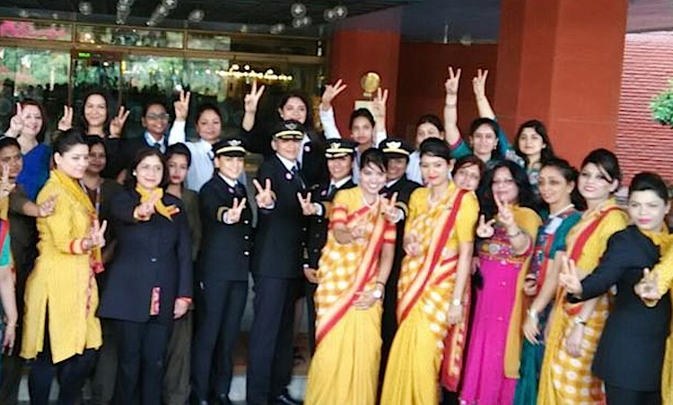 Air India All Women Flight Crew-Twitter