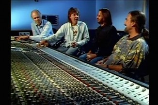 Beatles-film-george martin mixing board