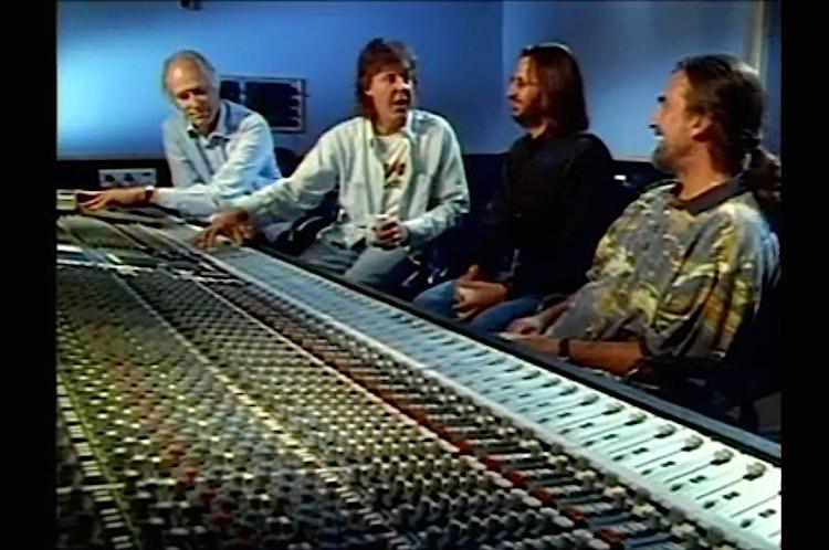 Beatles-film-george martin mixing board