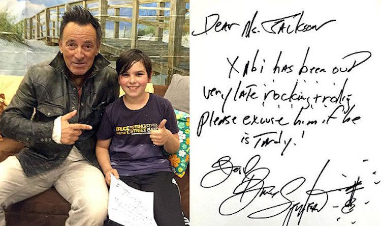 Bruce Springsteen Late Note - Facebook