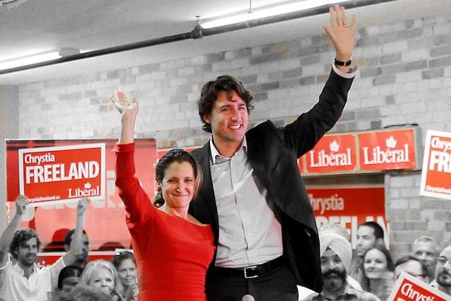 Justin Trudeay and Chrystia Freeland - CC Joseph Morris