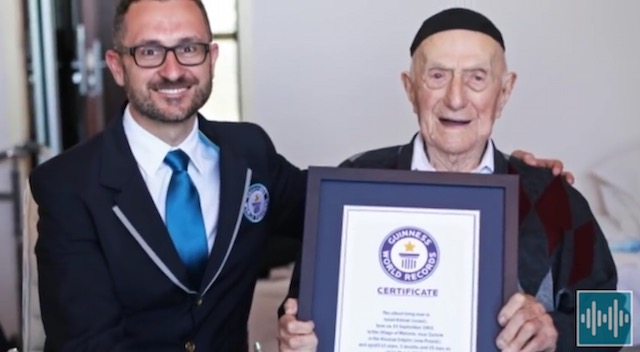 Yisrael Kristal-oldest man-guinness-record