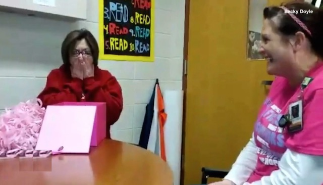 kidney donation surprise-school-video