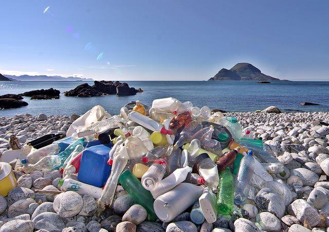 plastic bottle trash litter-CC-Snemann