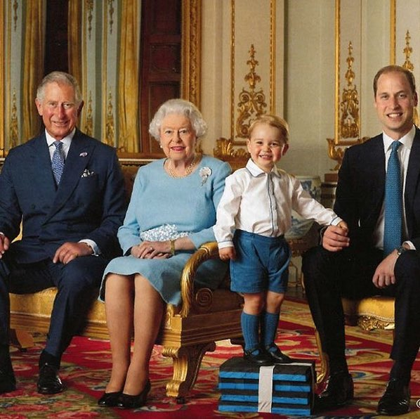 2 year old prince george to be on new stamp with 4 generations of