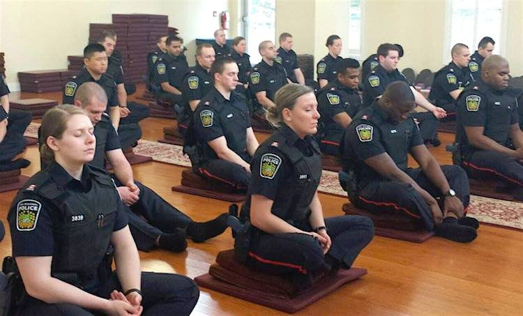 Cops Meditate in Canada CC West End Buddhist Temple and Meditation Center