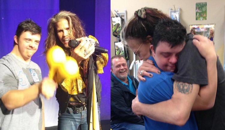 Fan with Steven Tyler Facebook Diane Yorfido
