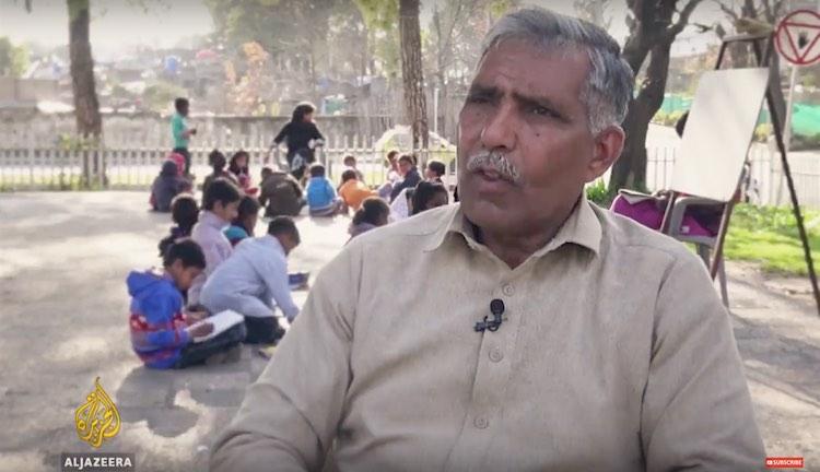 Firefighter Teaches Pakistanis to Read Screenshot Al Jazeera