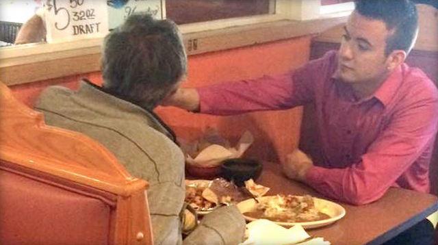 Helping Handless Man Eat FB Reginald Widener