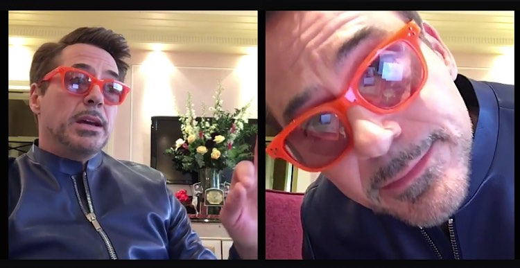 Robert Downey Jr FB Live Announcing RAF