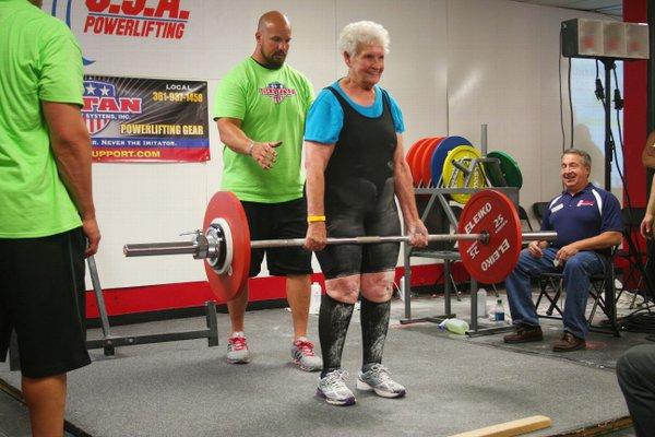Shirley Webb-weightlifting-elderly-senior-familyphoto