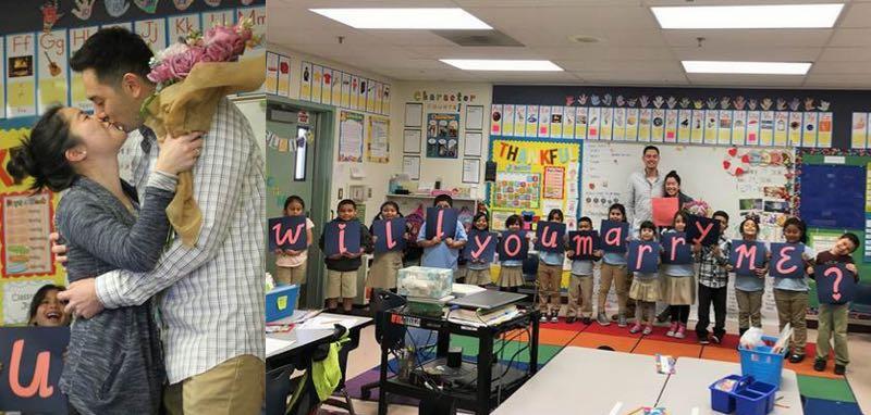 Classroom Engagement Ideas ~ Adorable classroom of kids helps teacher s boyfriend