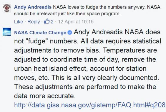 nasa-reply on facebook