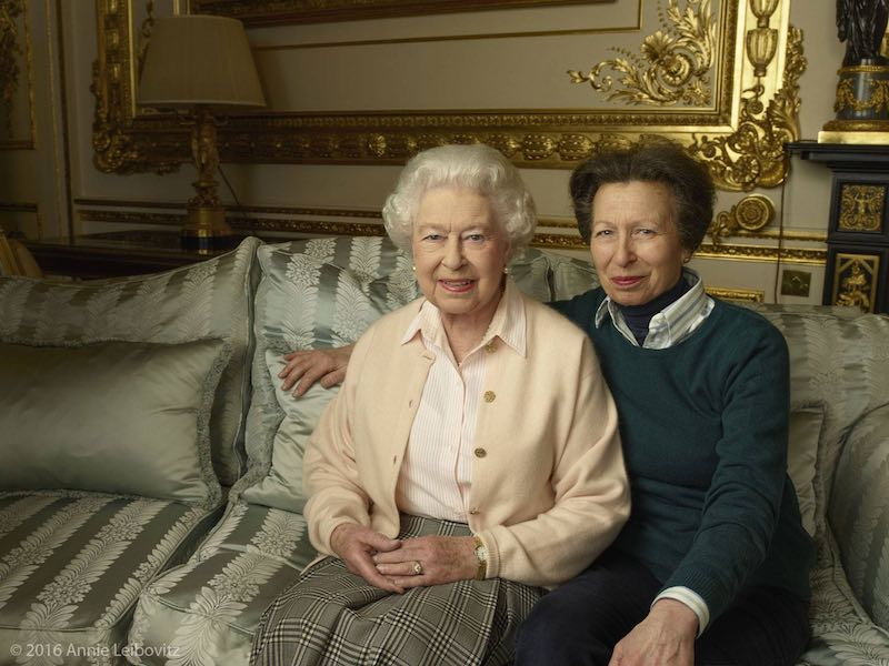 queen and daughter princess ann-Leibovitz-released