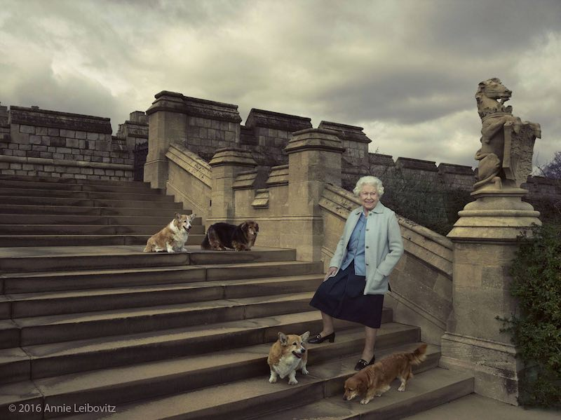 queen with dogs-annie Leibovitz-released