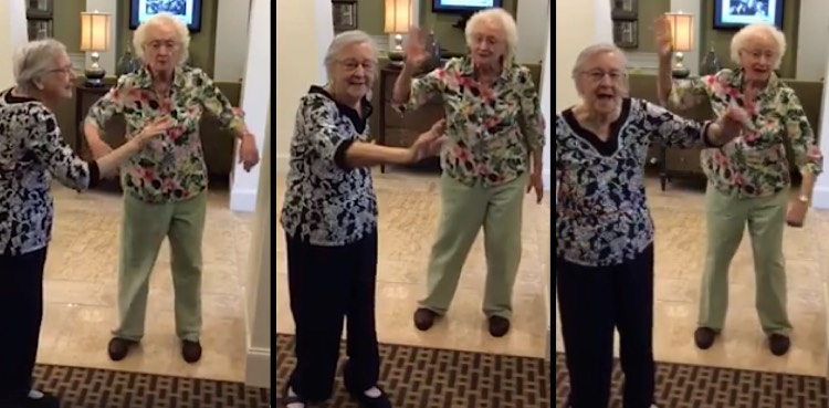 senior elderly ladies dancing-FB-Somerby of Peachtree City