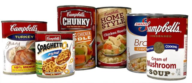 soup CANS-campbells soup released