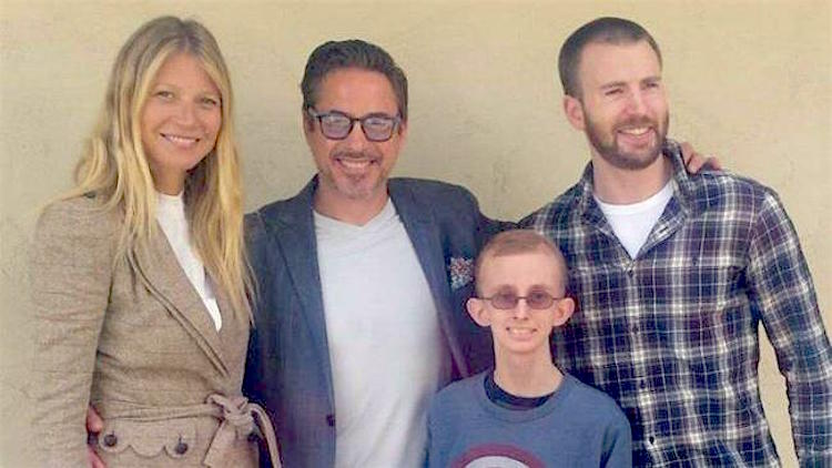 Avengers and Cancer Patient Released Ryan Wilcox Family