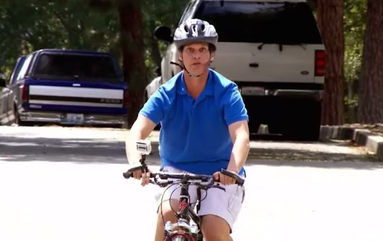 Watch This Blind Man Use Echo Location To Bike Down Busy