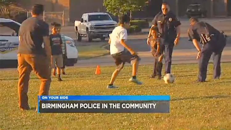 Cops Kids play soccer Screenshot WBRC