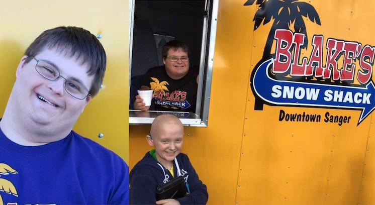 Down Syndrome Business Owner FB Blake's Snow Shack