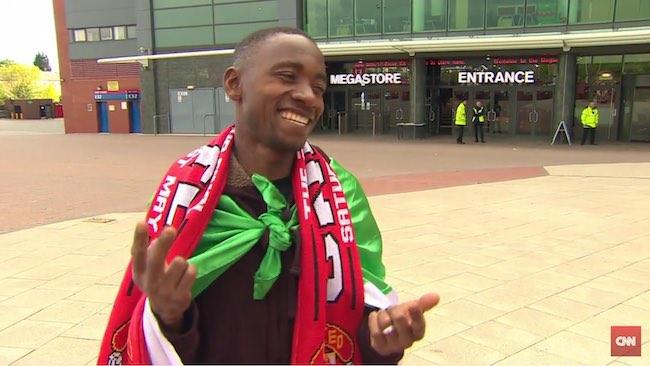 Moses Man U fan-CNN-youtube