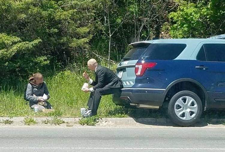 State Trooper Helps Homeless FB Mass State Police