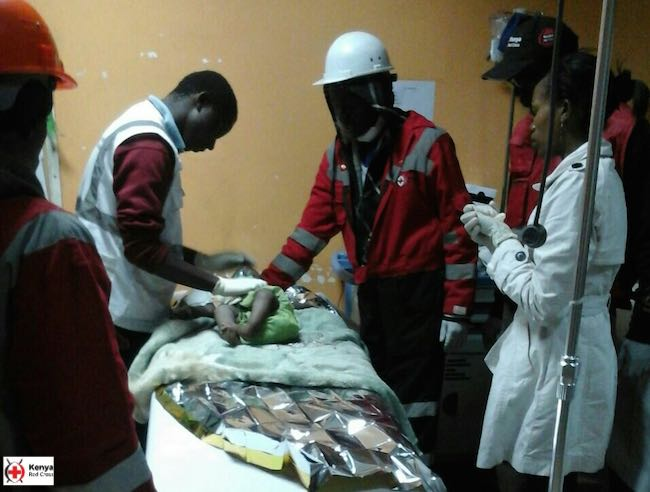baby rescued from earthquake kenyan red cross released
