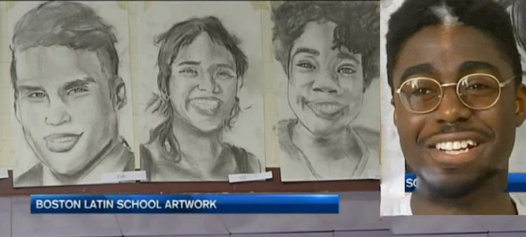 boston latin charcoal portraits-NBCvideo mashup