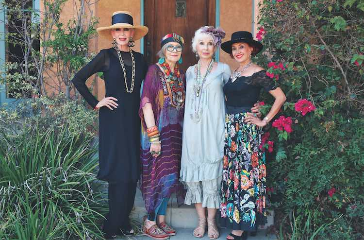 elderly-Colleen Heidemann, Suzi Click, Gretchen Schields, and Irene Coyazo-by-Ari Seth Cohen-Advanced Style-Older and Wiser-released