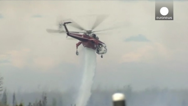 fire helicopter-euronews video
