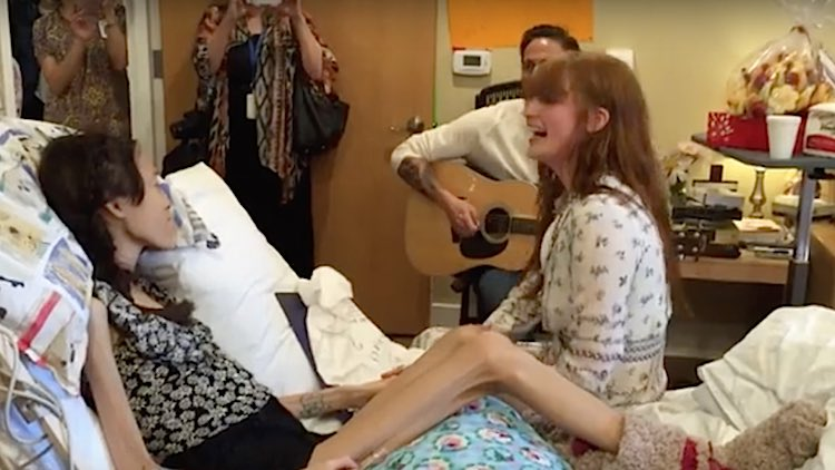 florence welch-hospice-visit-youtube
