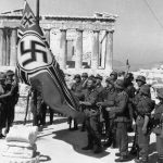 nazi flag on Acropolis_Athens-1941-Bundesarchiv