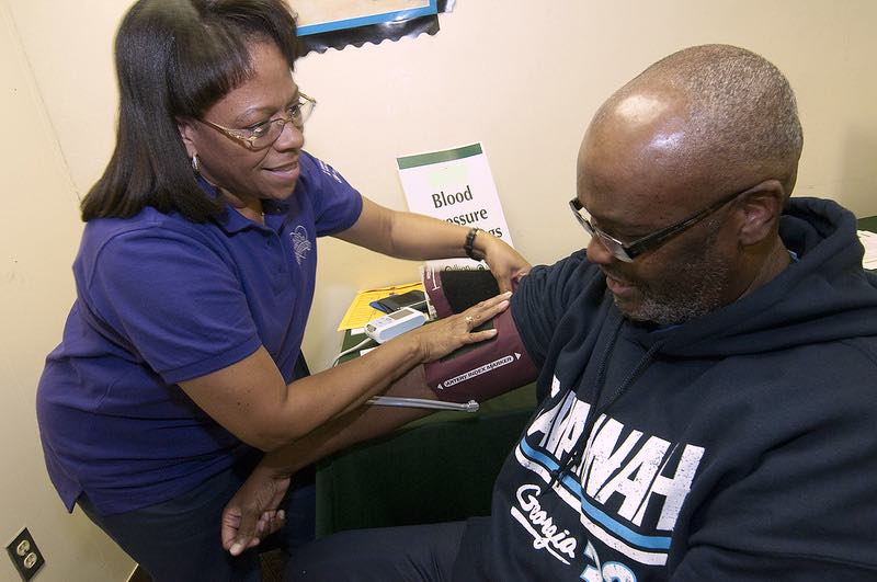 nurse takes blood pressure-cc-Christiana Care