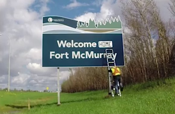 Fort McMurray-welcome-sign-DJ-Chris-Byrne-FB