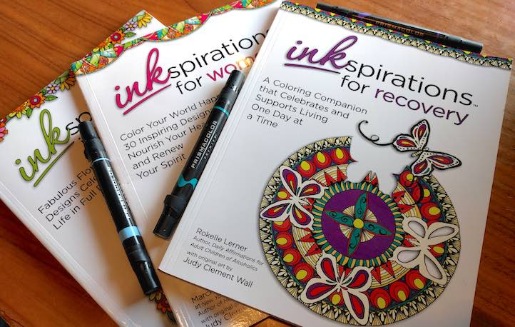 Inkspirations coloring books