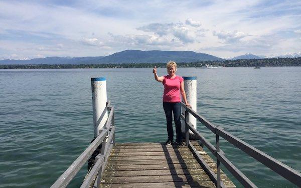 Katherine Davies on lake dock-twitter