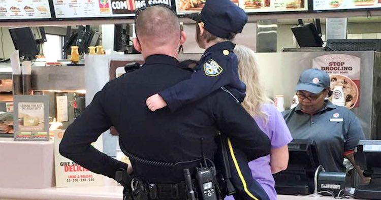 Kid takes Cop to Lunch FB Tara Murphy